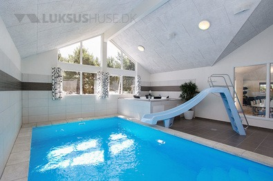 Der Pool im Luxusferienhaus Nr. 347 in Bornholm